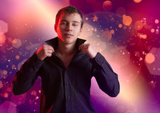 The teenager in a disco Royalty Free Stock Photography