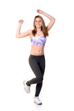 Teenager doing fitness workout Royalty Free Stock Photos