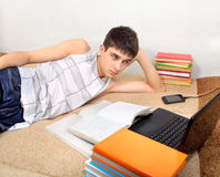 Teenager doing Homework Royalty Free Stock Photos