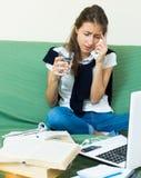 Teenager doing homework Stock Photo