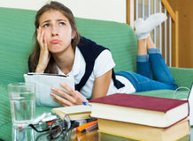 Teenager doing homework Royalty Free Stock Photos