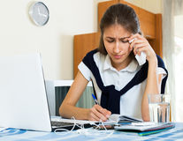 Teenager doing homework Royalty Free Stock Images