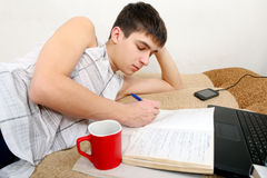 Teenager doing Homework Royalty Free Stock Photo