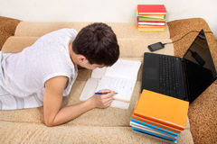 Teenager doing Homework Royalty Free Stock Photography