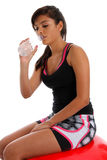 Teenager Drinking Water Stock Images