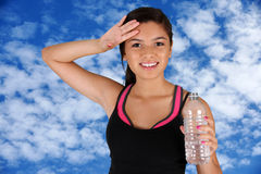 Teenager Drinking Water Royalty Free Stock Photos