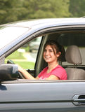 Teenager Driving Royalty Free Stock Photos