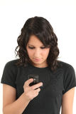 Teenager e SMS Immagine Stock Libera da Diritti