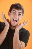 Teenager emozionante fotografia stock libera da diritti