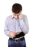 Teenager with Empty Wallet Royalty Free Stock Images