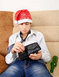 Teenager with Empty Wallet Stock Image