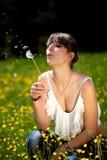 Teenager enjoying good weather Stock Image