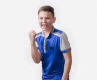 Teenager enjoys success, good luck Royalty Free Stock Photo