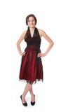 Teenager with evening dress Stock Images