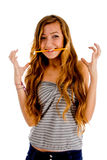 Teenager in excitment pose Stock Photos