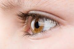 Teenager eye macro Royalty Free Stock Photos