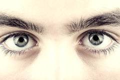 Teenager eye macro Royalty Free Stock Image