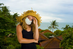 Teenager with face mask Royalty Free Stock Photos