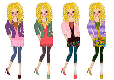 Teenager fashionable style Royalty Free Stock Images