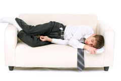 Teenager fast asleep Royalty Free Stock Photography