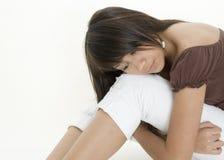 Teenager faticoso Fotografia Stock Libera da Diritti