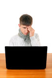 Teenager feels Headache Stock Images