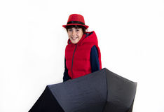 Teenager felice con Autumn Clothes Fotografia Stock
