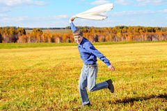 Teenager in a field Royalty Free Stock Photography