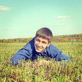 Teenager at the Field Stock Photography