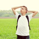 Teenager in the Field Royalty Free Stock Images