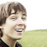 Teenager in the Fields Stock Photography