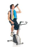 Teenager fitness bike Royalty Free Stock Photos