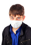 Teenager in Flu Mask Stock Photos