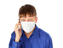 Teenager in Flu Mask Stock Image