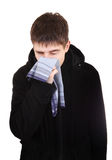 Teenager with Flu Stock Image