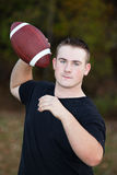 Teenager With Football Stock Photo