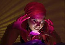 Teenager fortune teller Stock Images