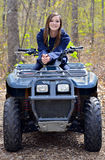 Teenager on a Four Wheeler Royalty Free Stock Photos
