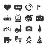 Teenager Free Time Icon. Teenager Free Time sign and symbol Icon Stock Images