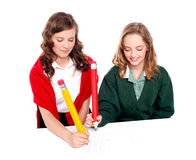 Teenager friends playing ouths and crosses Royalty Free Stock Photography