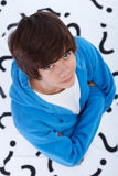 Teenager full of questions Royalty Free Stock Images