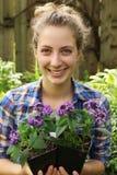 Teenager gardening Royalty Free Stock Image
