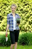 Teenager gardening Stock Photos