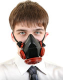 Teenager in Gas Mask Stock Photography