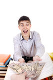 Teenager get a Money Stock Images