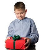 Teenager and a gift Stock Photography