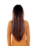 Teenager girl back with long hair Stock Image