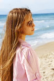 Teenager girl on the beach. Stock Photo