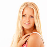 Teenager girl beautiful cheerful Royalty Free Stock Photos