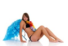 Teenager girl in bikini Royalty Free Stock Photos